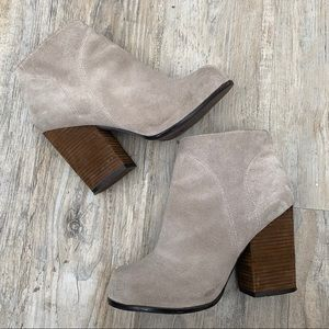 Jeffery Campbell Hanger Boots Block Heel Tan 8M